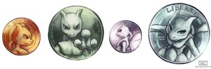 Mewtwo coin by Haychel