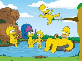simpsons skinnydipping by Deadpoolfan217