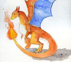 Charizard Watercolor by Kaliaen