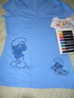 Grouchy and Baby Smurt T-Shirt by UncleGargy