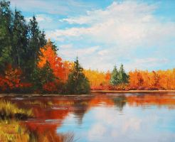 Autumn Lake by artsaus