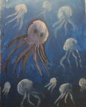 jellyfish/octopus by Llepon