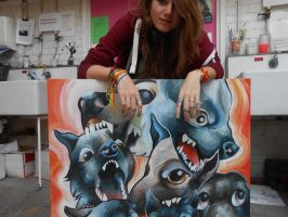 How big my paintings are by ClaraBacou