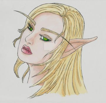 Laraen In Thought ~Colored Version by Auraine2