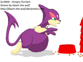 Hungry Purrloin by Doom-the-wolf