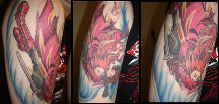 My First Tattoo: Lloyd, Zelos, ToS - Colored. by Ulqui92Soul