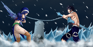 Juvia and gray by SchismArt17