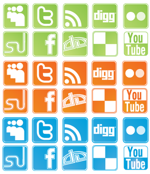 Social Network Sites: Icon Set by Precise-Pixel