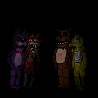 Five Nights at freddys group pic by Gunkystuff