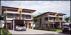 box type duplex house by davens07