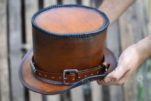 Steampunk Leather Tophat! by The-Beast-Man