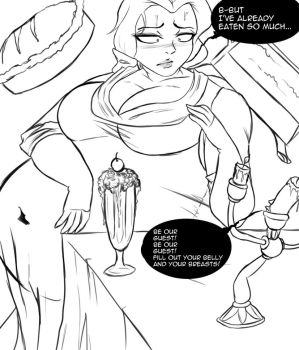Patreon Sketch: Be Our Guest by Cookies-Cat