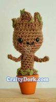 Baby Groot Amigurumi by pirateluv