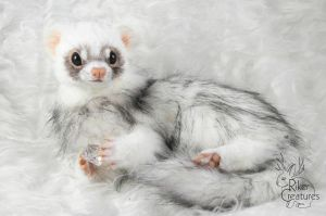 Ferret Poseable Art Doll by RikerCreatures