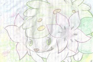Grateful Shaymin by XxPaperLacexX