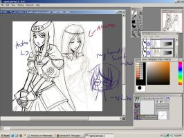 Knight and the Princess - WIP by dementedmonkey