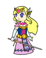 Commission - Princess M. G. Zelda by swordxdolphin