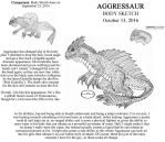 AGGRESSAUR Body Sketch-October 13, 2016 by JacobS-KaijuCreator
