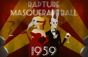 Rapture Masquerade Ball Poster by LaggyCreations