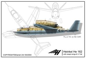 He 162 Negative swept wing by neuer-geist