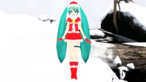 -MMD- PjD Christmas Miku updated DOWNLOAD by KasugaKaoru