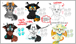 :ADOPTABLES AND CUSTOMS: OPEN! by felicities