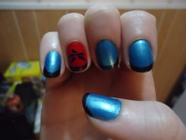 Mukuro Inspired Nail Art-Right by pockyXbandit