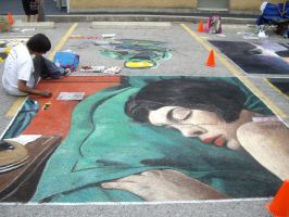 Amelie Street Painting by english-pyro
