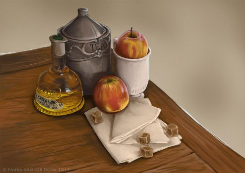 Still life painting 2 by NadiavanderDonk