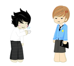 L and Light Yagami by animefreak4277