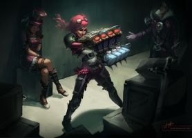 Vi + Friends by tsuaii
