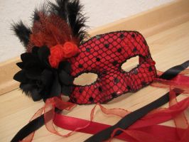 Red Masquerade mask by mi0610