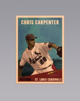 Chris Carpenter Vintage Card by ksdesign09