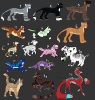 .: Mixed Adoptables :. [OPEN] by Cannidae