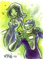 PSC: Kyle Rayner and Jade by mikemaihack