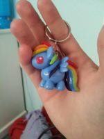 .:Rainbow Dash Key Chain:. by PeaBlueJr