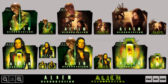Alien Resurrection (1997) Folder Icon Pack by Bl4CKSL4YER