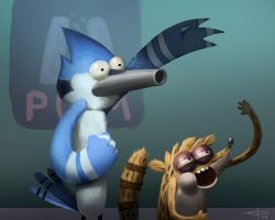 Mordecai and Rigby by edsfox