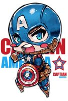 Chibi CAPTAIN AMERICA by Jrpencil