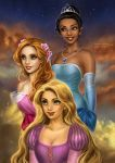 Disney's Gals: Tiana, Giselle and Rapunzel by daekazu