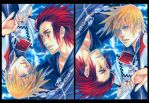 Roxas and Axel by SheCow