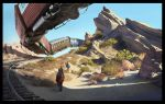 Vasquez Rocks Landscape Painting by KangJason