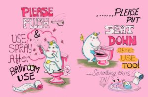 Commission Moomin BathroomSign by BlueBirdie