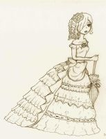 victorian dress. by rie-ushio
