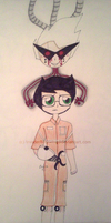 Homestuck/Portal - Jake be the Test Subject by InvaderBlitzwing
