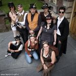 Steampunk group shot by Marjolijn-Ashara
