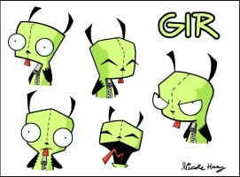 The Many Faces of GIR by DoomPuppyX