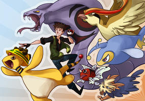 Commission: Pokemon Team by the-Orator