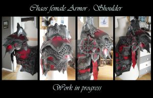 Chaos female armor : work in progress by Deakath
