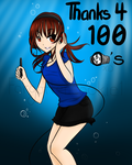 Thank you for 100 watches! by Forgottencookie1